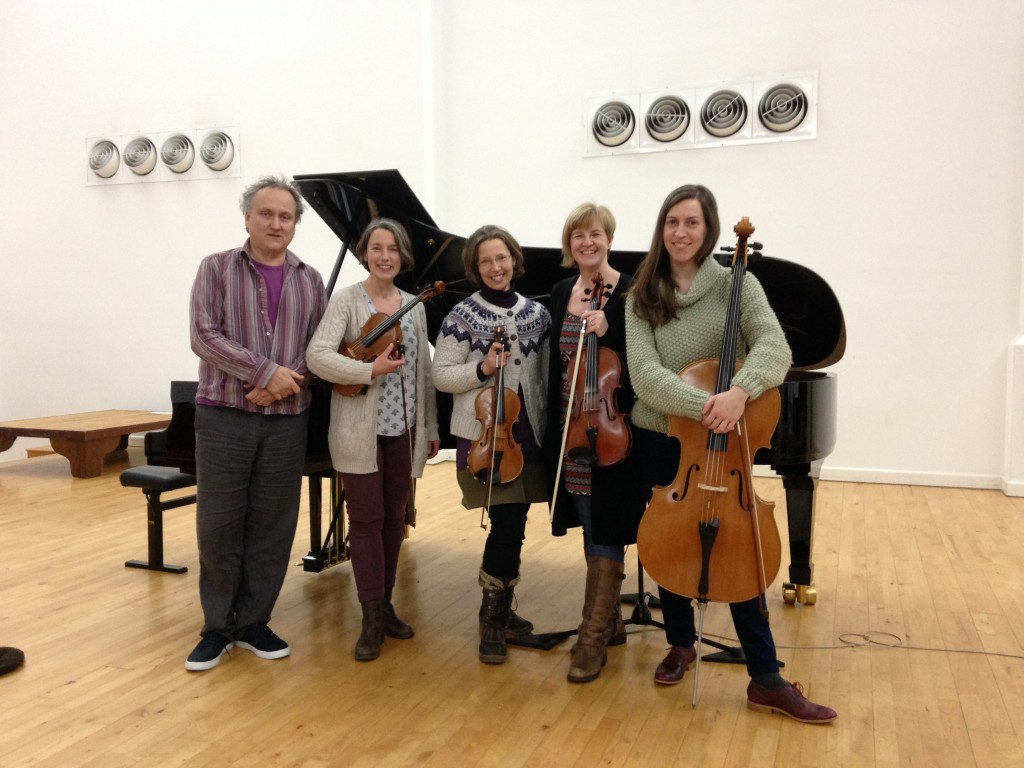 Mark Springer and The Lochrian Ensemble recording at The Wyastone Concert Hall, Wyastone Leys, Monmouth, NP25 3SR